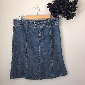 H&M Knee Length Light Blue Denim Skirt